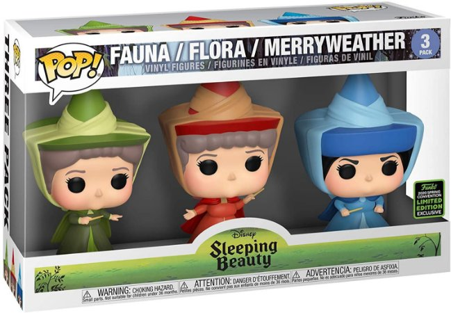 Funko Pop! Disney: Sleeping Beauty - Fauna, Flora, Merryweather