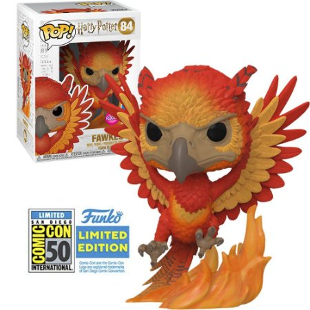 Funko Pop! Movies: Harry Potter - Fawkes (Flocked) SDCC 84