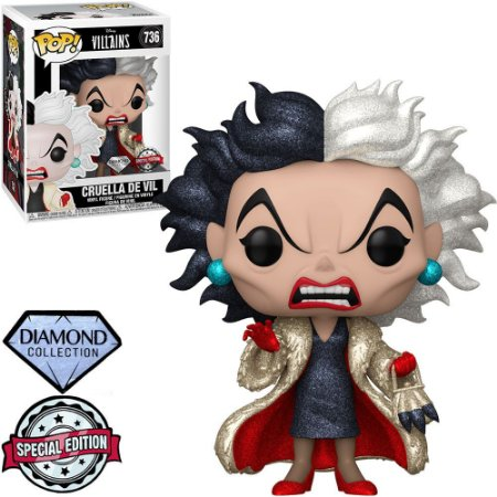 Funko Pop Disney Villains - Cruella De Vil (Diamond) 736