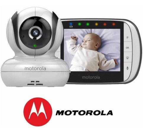 Babá Eletrônica Motorola MBP-36S Visão Noturna LCD Digital
