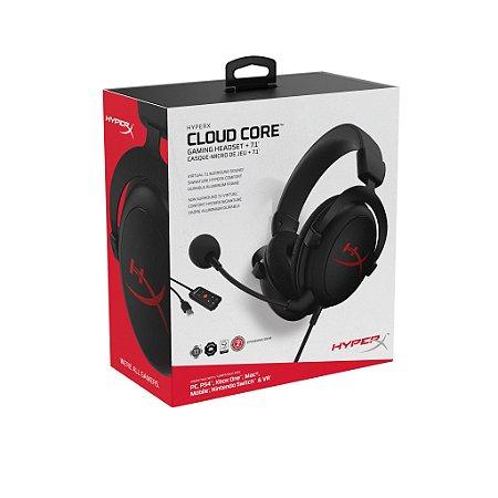 Headset Gamer HyperX Cloud Core - KHX-HSCC-BK