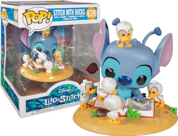 FUNKO POP DISNEY LILO STITCH *DELUXE* STITCH WITH DUCKS *EX* 639