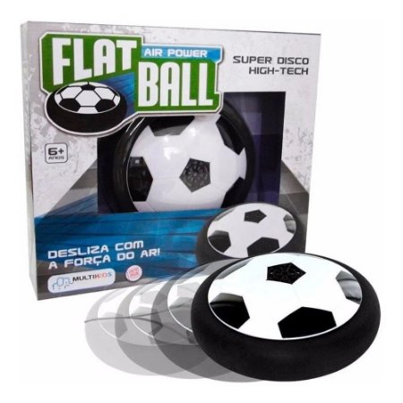 Flat Ball Alimentação por 4 Pilhas AA Indicado para +6 Anos Preto/Branco Multikids - BR371