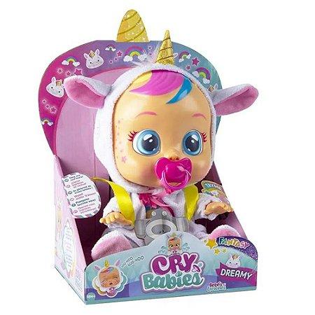 Boneca CryBabies Dreamy com Chupeta, Alimentação 2 Pilhas AAA Indicado para +4 Anos Multikids - BR1029