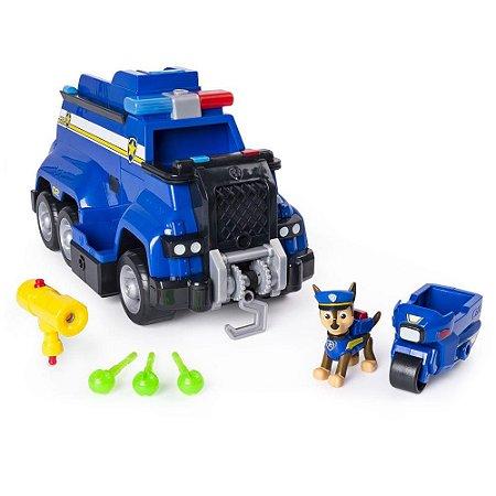 Veículo e Mini Figura Carro de Polícia Resgate Extremo Patrulha Canina Sunny