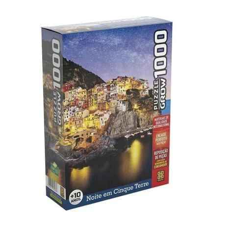 Puzzle 1000 peças Noite em Cinque Terre