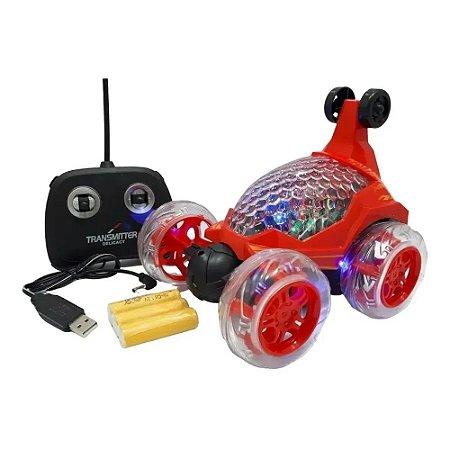 Carro Controle Remoto Crazy Vermelho - DM Toys