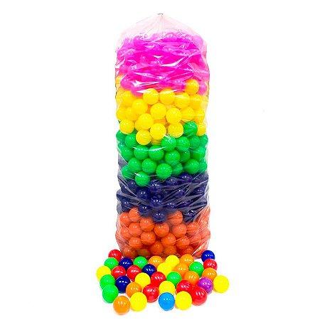 Kit Com 100 Bolinhas Plastica Colorida Para Piscina