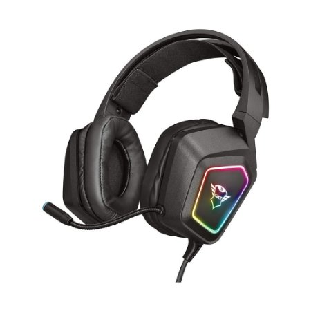 Headset Gamer Trust Gxt 450 Blizz RGB 7.1 Surround USB  PC