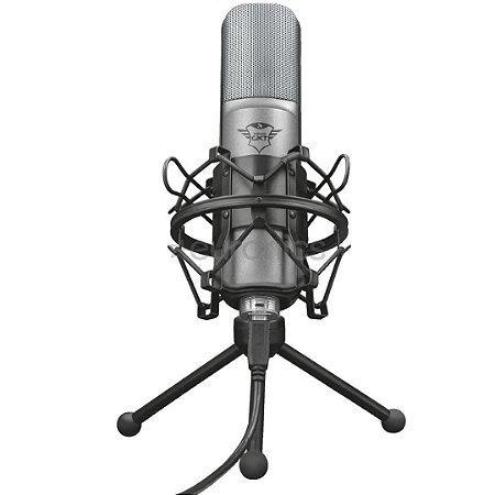 Microfone Gamer Trust Streaming Usb Lance 22614 Preto