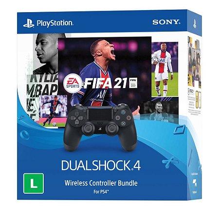 PS4 Fifa 21 Midia Digital Com Controle Dualshock 4 (Bundle)