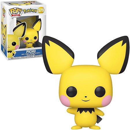 Funko Pop Pokemon S3 Pichu Flocked *EX* 579