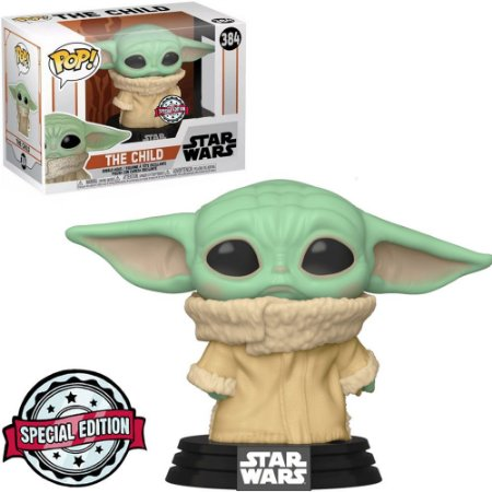 Funko Pop Star Wars Mandalorian Baby Yoda Concerned *EX* 384
