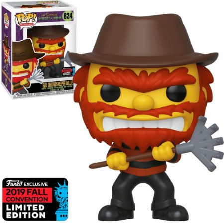 Funko Pop The Simpsons Tree House Of Horror *NYCC* Willie Evil 824