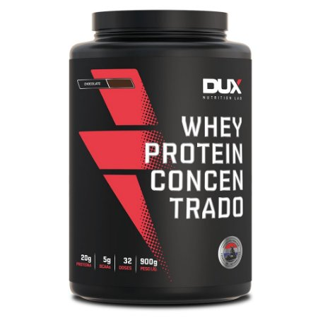 Whey Protein 900g Concentrado Chocolate Dux Nutrition MKT