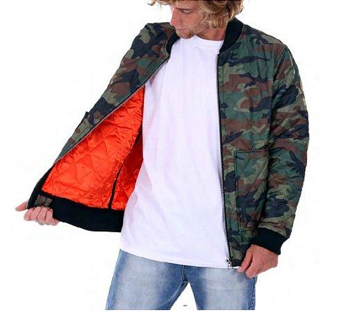 ce06a06a1 Jaqueta Double-G Bomber camuflada Verde - Beco Skate Shop