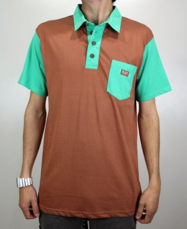 Camisa Blaze Polo Marrom/verde