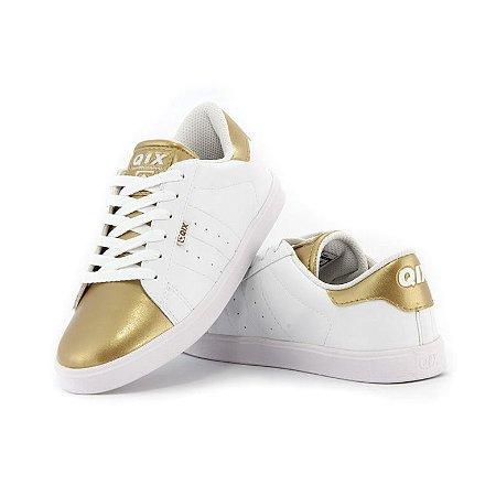 Tênis Qix Missy Branco/Dourado