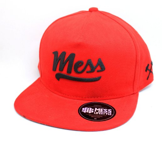 BONÉ MESS LIFE STYLE FRONT RED