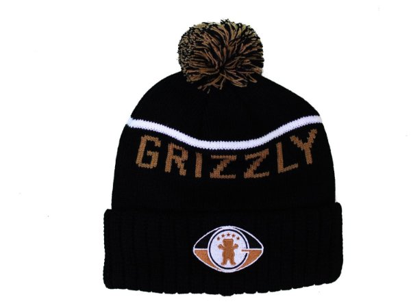 Touca Grizzly Draft Pom Beanie Black