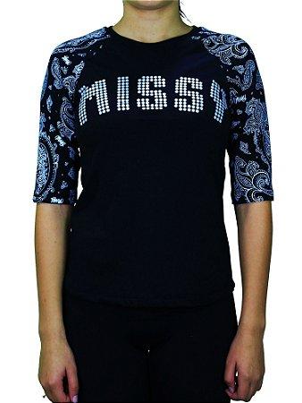 Camiseta Qix Missy Raglan Pansley