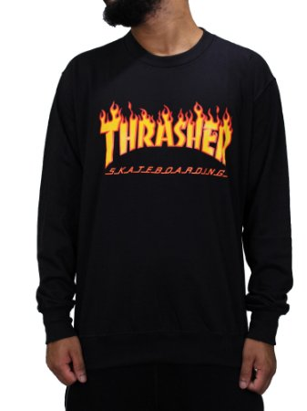 Moletom Thrasher Flame Fino