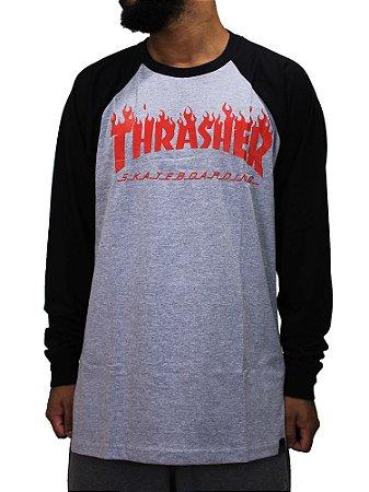 Camiseta Thrasher Manga Longa Flameone