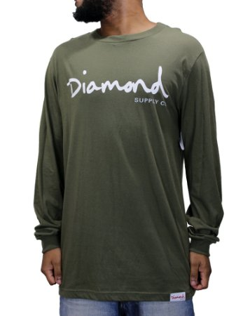 Camiseta Diamond Supply Olive