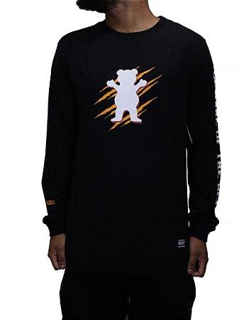 Camiseta Grizzly Woud Og Manga Longa