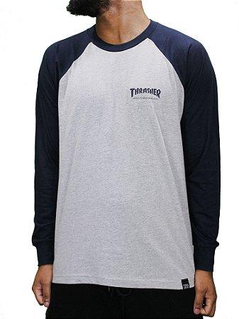 Camiseta Thrasher Manga Longa Raglan