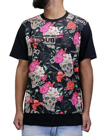 Camiseta Double-G Caveira Raglan - Beco Skate Shop 2fd563c930a