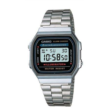Relógio Casio Vintage Digital Fashion A168WA-1WDF