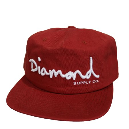 Boné Diamond OG SCRIPT Vermelho