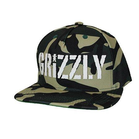 Boné Grizzly Camo Verde