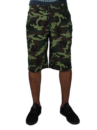 Bermuda Qix Sarja Camuflada Verde