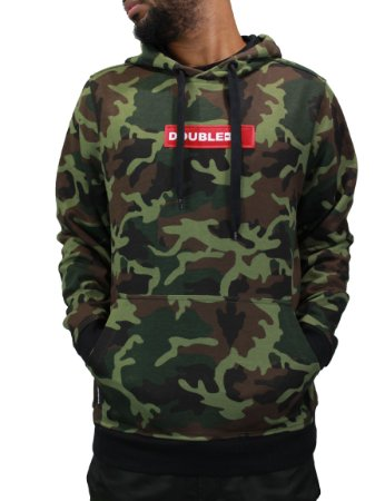 Moletom Double-G-Red Box Camo Verde Com capuz