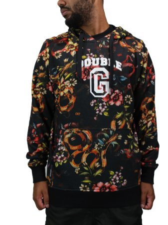Moletom Double-G Roses and Snakes