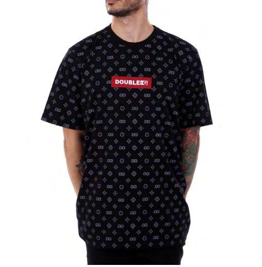 Camiseta Double-G Red Box Pattern Preta