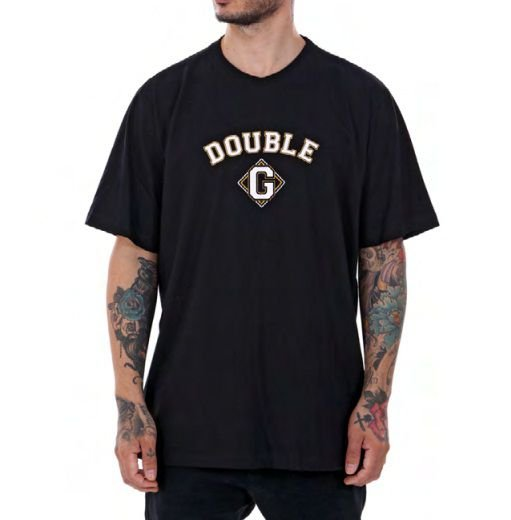 Camiseta Double-G College Preta