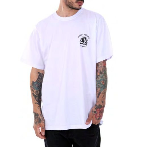 Camiseta Double-G Skull roses Branca