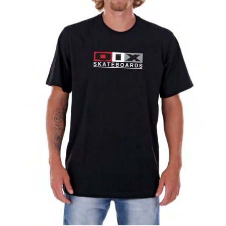 Camiseta Qix Hexagon Preta