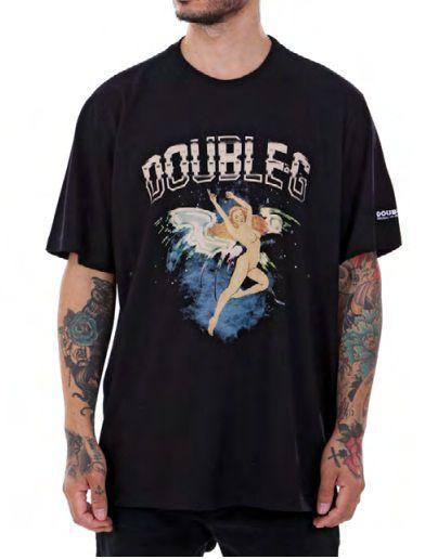 Camiseta Double-G preta Anjo
