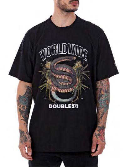 Camiseta Double-G preta Snakes