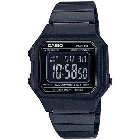 Relógio Unissex Casio Vintage Digital B650wb 1bdf - Preto