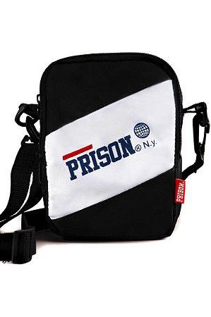 SHOULDER BAG PRISON WHITE TARGE PRETA