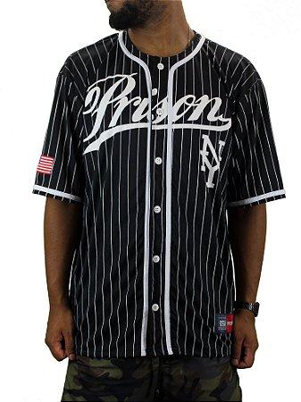 Camiseta Prison baseball NY preta