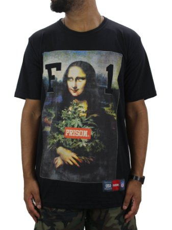 Camiseta Prison High Monalisa preta