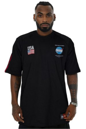 CAMISETA PRISON NASA STRIPE BLACK