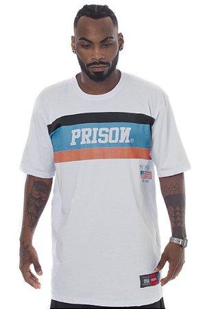 CAMISETA PRISON US LINES BRANCA