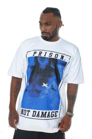 CAMISETA PRISON NOT DAMAGE BRANCA